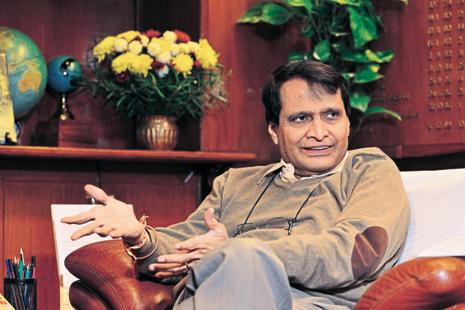 Suresh Prabhu exchanged views on prospects for more business cooperation with executives of top South Korean companies. Photo: Mint