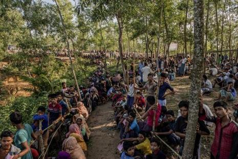 The assistance to the Rohingya refugees in Bangladesh is being provided by New Delhi as part of its humanitarian aid. Photo: Bloomberg