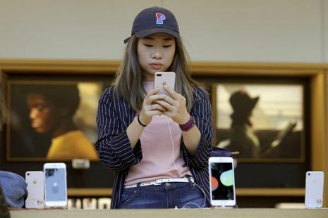 "Apple iPhone 8 pre-orders are ""substantially lower"" than iPhone 7 and iPhone 6 levels, Rosenblatt Securities analyst Jun Zhang wrote in a note last week. Photo: AP"