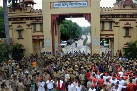 Violence had last week erupted in the Banaras Hindu University (BHU) campus after some female students were allegedly molested by outsiders. Photo: PTI