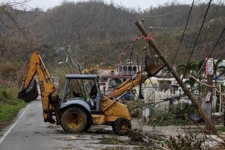 The hurricane that battered the US territory of Puerto Rico last week has weakened slightly with maximum sustained winds Tuesday morning. Photo: Reuters