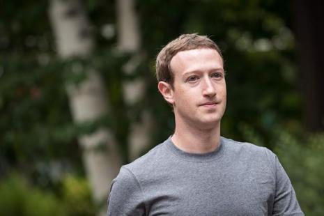 Facebook's Mark Zuckerberg saw the biggest drop in net worth of $3.2 billion. Photo: AFP