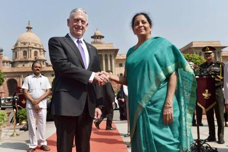 Jim Mattis arrived in New Delhi late on Monday, marking the first visit to India by a cabinet-level official from Donald Trump's administration. Photo: PTI