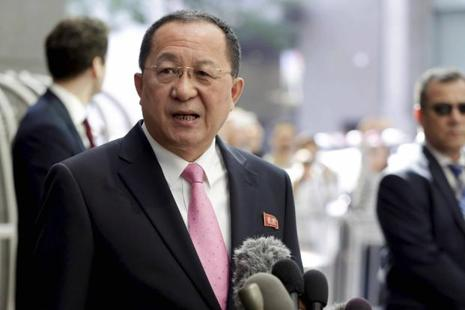 North Korean foreign minister Ri Yong Ho said on Monday that US President Donald Trump had declared war on North Korea. Photo: AP