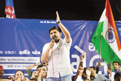 The BJP is hoping that PAAS leader Hardik Patel supporting the Congress will not impact the party in a major way. Photo: Sam Panthaky/AFP