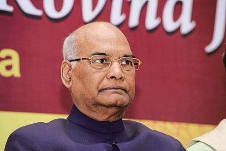 President of India Ram Nath Kovind. Salaries of the president, vice-president and governors were last hiked in 2008 when the Parliament had approved a three-fold increase. Photo: Hemant Mishra/Mint