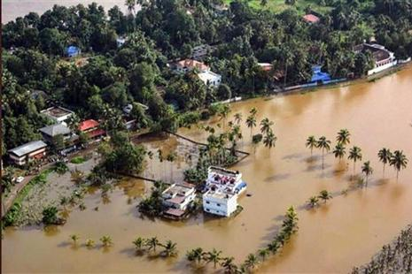 Heavy rains has been battering Kerala  since last week. Photo: PTI
