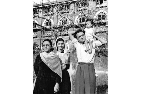 Manto with wife Safia (left), sister-in-law Zakia Hamid Jalal and baby Nighat in Mumbai. Photograph courtesy: The Manto family