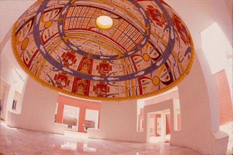 The dome in Mangal Mahal at the Jawahar Kala Kendra in Jaipur.