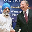 Summers with Montek Singh Ahluwalia, deputy chairman, Planning Commission