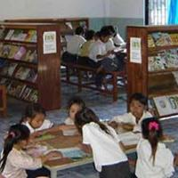 Room To Read: Children studying inside the library
