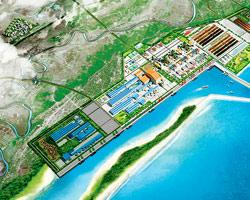 A blueprint of Posco's planned project in Orissa