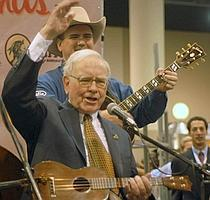 Appetite for life: Buffett sings with a band