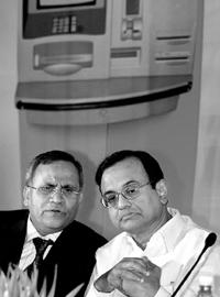 Road map: File photo of BoB chairman and managing director Anil K. Khandelwal (left) with finance minister P.Chidambaram.