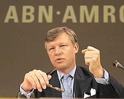 Defensive: In an emotional outburst, ABN Amro Bank chief executive officer Rijkman Groenink complained to a Dutch court on 28 April that his company had become 'a toy for hedge funds'.