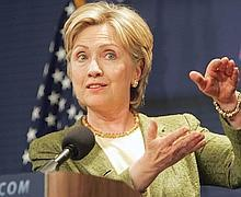 "Senatorspeak: Senator Hillary Clinton in February expressed concern over foreign ownership of ""nearly half"" the US debt"