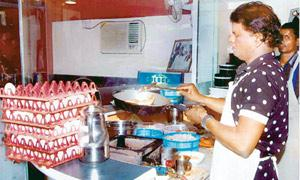 Special offerings: RK's Egg Eatery came up in 1996. The restaurant was founded by Rajubhai (above), a eunuch from Ahmedabad.