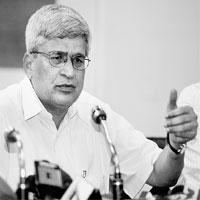 Showing displeasure: File picture of CPM general secretary Prakash Karat. He said the government will have to take into account the unhappiness of all non-UPA parties over the 123 Agreement.