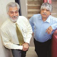 Rajesh Chaturvedi and Madan  Bahal,  founding partners, Adfactors group