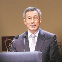Positive outlook: Singapore Prime Minister Lee Hsien Loong.