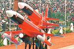 Lakshya, one of India's two homegrown unmanned aerial vehicles, on display at a Republic Day parade in New Delhi