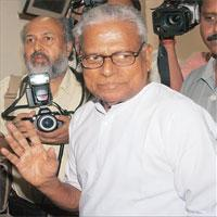 Crisis management: Kerala chief minister V.S. Achuthanandan.