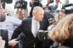 Spygate saga: Team principal of the McLaren-Mercedez Formula One team Ron Dennis arrives at the World Motor Sport Council headquarters, the governing body of the FIA in Paris, on 13 September.