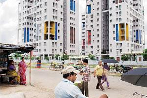 High rise: Residential apartments in Kolkata. The proposed integrated township will be developed on the outskirts of the city.