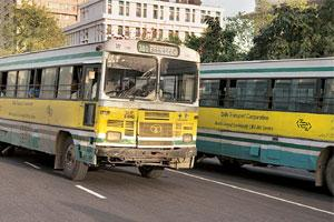 High demand: The Delhi Transport Corporation plans to more than double its fleet to 9,000 buses by 2010.