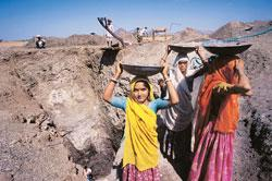 A gemstone mine in Jaipur, Rajasthan. Miners say bureaucracy, paperwork and corruption are holding their efforts up