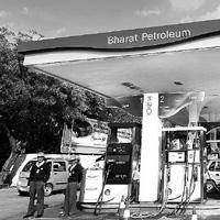 Show time: A BPCL outlet in New Delhi. The company's chairman, Ashok Kumar, says land adjacent to its fuel stations will be developed as part of a larger community hub where families can come for an o