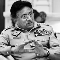 In the running: A file photo of Pervez Musharraf, who is seeking a new five-year term. The main threat to his plan appears to be its disputed legality, with the Supreme Court continuing to hear a raft