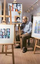 Masterstroke: More than 100 works by Bhatt are displayed at Delhi Art Gallery