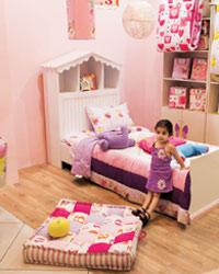 My Space: Products (above) from the store in New Delhi offer children more personalized rooms.
