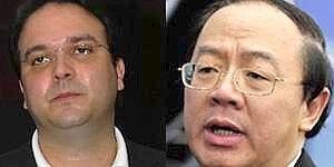 Mutual discord: GoAir managing director Jeh Wadia (left) and SIA Engineering president and CEO William Tan Seng Koon. William Tan and the Wadias signed an MoU in July 2006. Wadia had then said that bo