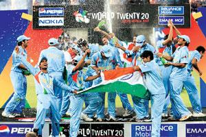 Haul of triumph: Marketing firms say corporate advertising in cricket will jump significantly after India won the ICC Twenty20 World Cup.