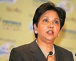 Woman power: Chairman and CEO of PepsiCo Inc. Indra Nooyi.