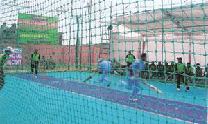Next big thing?The game, with 16 overs per team, is usually played on an Astroturf court surrounded by a net.