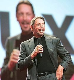 Fat cheque: Oracle Corp. chief executive officer Larry Ellison