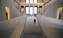 The newly constructed staircase of Berlin's Neues Museum