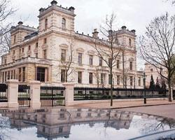 A file picture of Lakshmi Mittal's Kensington Palace Gardens home in West London. He bought it for a record £70 million