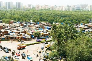 Mumbai's Dharavi slum. As real estate prices in the city soar, the state government's share from the slum's redevelopment is likely to grow manifold