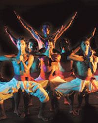 Artists from the Samudra troupe explore dance inspired by the classical form but performed in contemporary style