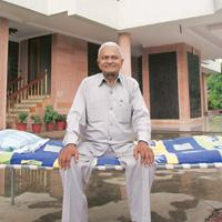 The simple life: Patel gets angry at any attempt to change his wardrobe and shows off his pension of Rs1,200, saying he is just a retired teacher and can't afford new clothes every time