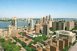 Shaky ground: A westward view towards the Hudson River from the Upper West Side neighbourhood of Manhattan, New York. Property trusts that own office buildings, apartments, hotels and mortgages are lo