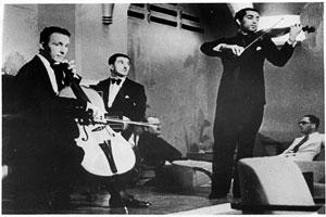 Boy band: (from left) Mario, Verga and Mehli Mehta (father of Zubin Mehta) of The Melody Trio, playing at Mumbai's Taj hotel in March 1937.