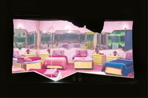 Framed: Gupta's shot of the mirrored girls' room at the Bigg Boss house.