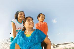 Health notes: Jamuna Balamurugan with her daughters Harshitha and Joshitha