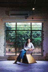 On the surface: Gunjan Gupta plays with reflections on her chair