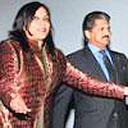 Film maker Mira Nair with Anand Mahindra